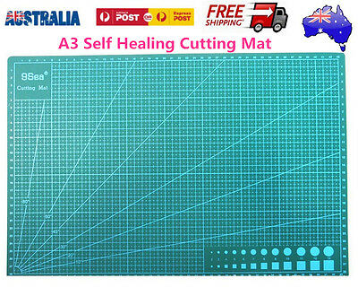 New A3 Double Sided Self Healing Rotary Knife Cutting Mat Paper Cut Board Green