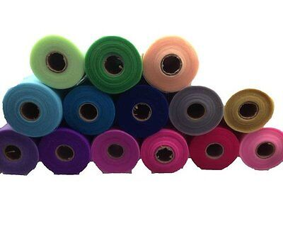 6inch x 100yd 15cm x 91M Tulle Roll 23 Colours To Choose From