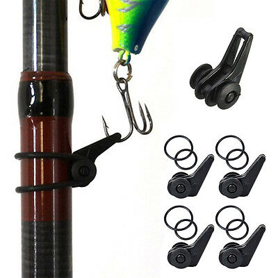 2Pcs Fishing Rod Hook Holder for Lures Bait Rigs Pole Hook Keeper Fishing Tools