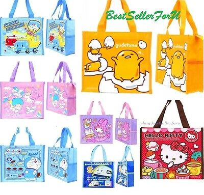 Sanrio Tote Bag Kids Shoulder Pouch Lunch Box Bento Food Container Storage Case