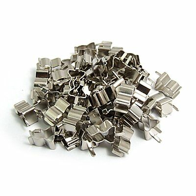 50 Pcs Plug In Clip Clamp for 5 x 20mm Electronic Fuse Tube L3