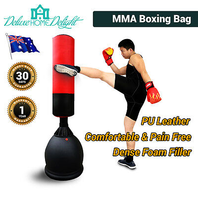 New Kick Boxing Punching Bag Free Standing MMA Exercise Home Gym PU Leather