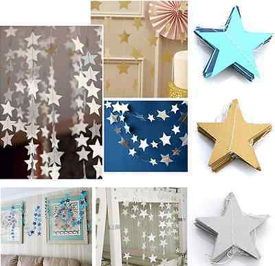 Hanging Paper Garland Star Chain Wedding Baby Shower Party Ceiling Banner Decor