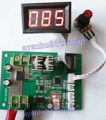 500W 20A 12-24V DC Brush Motor PWM Speed Controller with Display Governor Driver