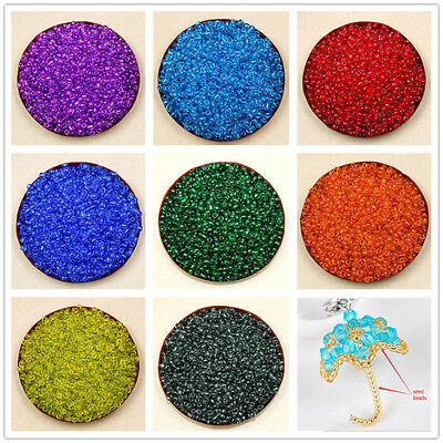 Lots 2000 Pcs Colorful Round Czech Glass Spacer Loose Beads Jewelry DIY Dia.2mm