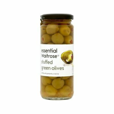 Spanish Stuffed Green Olives Waitrose 340g