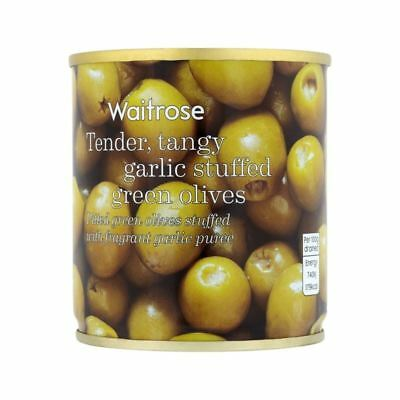 Garlic Stuffed Olives Waitrose 200g