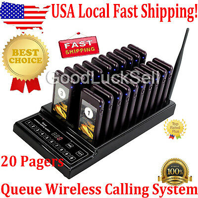 20 Restaurant Coaster Pager Guest Call Wireless Paging Queuing System Hot Sale U