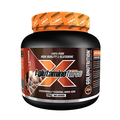 Aminoacidos Glutamina L-Glutamine Force - Gold Nutrition