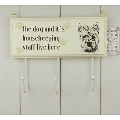 Westie Plaque with Hooks - West Highland White Terrier Dog