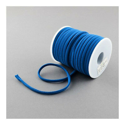 1 x Blue Habotai Stretchy Spandex 2m x 5mm Thong Cord Continuous Length Y04670