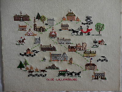 Cross Stitch Embroidery Completed Olde Williamsburg Usa