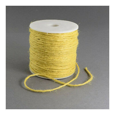 1 x Yellow Hemp 10m x 2mm Twine Cord Continuous Length Y05100