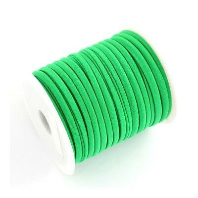 1 x Green Habotai Stretchy Spandex 2m x 5mm Thong Cord Continuous Length Y05350