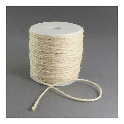 1 x White Hemp 10m x 2mm Twine Cord Continuous Length Y04790