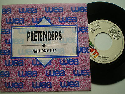 THE PRETENDERS Millonaires SPAIN 1-SIDE ONLY PROM0 45 1990