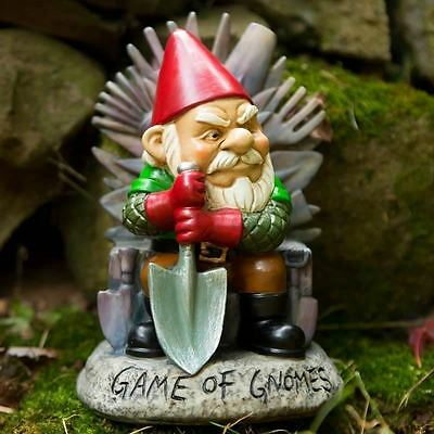"Big Mouth Toys Game of Gnomes Throne Gnome 9"" Figure Novelty Lawn Ornament"