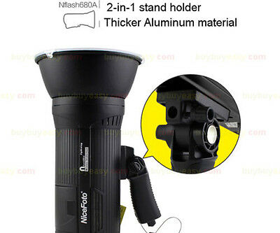 Nicefoto n680A 600W Portable Wireless Embeded Battery Strobe Flash Light Black