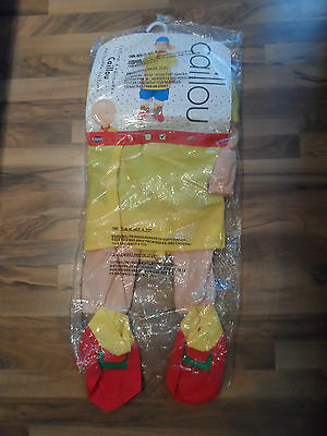 New Rare To Find Pbs Caillou Cinar 2002 Halloween Costume Boy 6 -6X