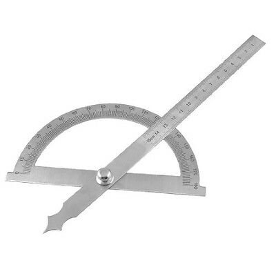 BT Gray Stainless Steel Rotating 180 Degree Meshrement Protractor Metric 15cm