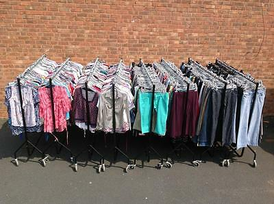 "Job Lot of 65 Used Womens ""Grade A"" Ladies Clothing TROUSERS, JEANS + SHORTS"