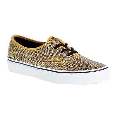 f93c3e608ce6 NEW VANS WOMENS Authentic Glitter Gold Micro Dots W7.5/ 8 / 8.5 VN ...