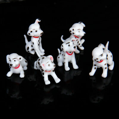 Doll House Miniature Dalmatian Dogs Puppy Pet Animals Fairy Garden Accessory