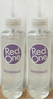 2 x Red One Thunderbolt  Aftershave Cologne 150ml