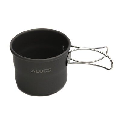 BT ALOCS TW-402 Portable Aluminum Oxide Outdoor Camping Cup Foldable Handles