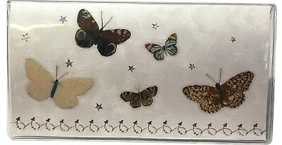 White w/ Brown Monarch Butterfly 2 Yr Calendar 2020 2021 & Note Pad CR69