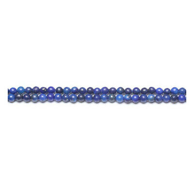 Strand Of 115+ Blue Lapis Lazuli 3mm Plain Round Beads GS10358-3
