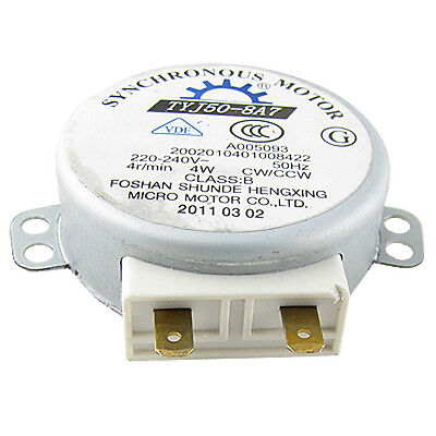 Microwave Oven Turntable Synchronous Motor 4W AC 220-240V 4 RPM CW/CCW A+