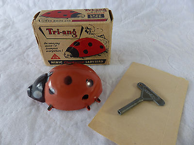 1950er Jahre Tri-Ang Minic Ladybird Clockwork Toy  in Box