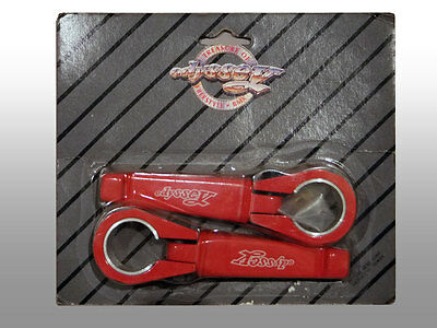 1986 Odyssey BMX Bike Old School Pivot Wings Clamp-on Fork pegs, Red