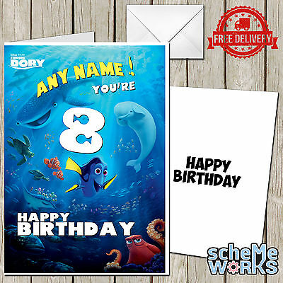 Finding Dory Nemo Personalised Greeting Birthday Card Disney Son