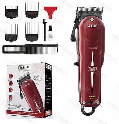 Wahl Super Taper Mains Cordless Professional Rechargeable Clipper *100-240V*