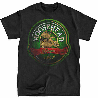 Distressed Moosehead Beer Black T-Shirt - Ships Fast! High Quality!