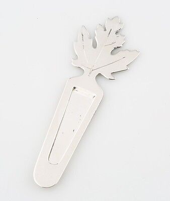 Authentic Tiffany & Co Makers Sterling Silver Maple Leaf Bookmark 6.8g Retired