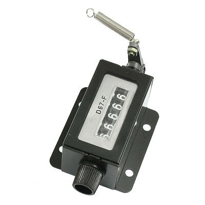 D67-F Black Casing 5 Digits Mechanical Pull Stroke Counter B4M7