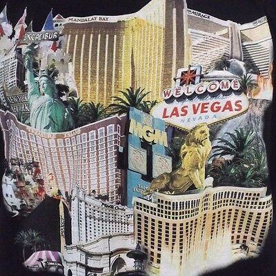 MGM Mirage Las Vegas Strip Nevada Casino Black Tee T Shirt With Graphic 2XL