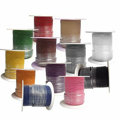 16 Gauge Primary Wire : Copper Stranded : 12-100' Spools : CHOOSE YOUR COLORS
