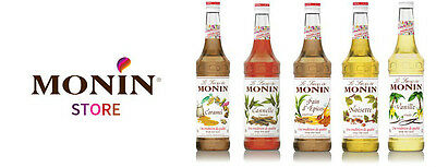 Monin Coffee Premium Syrup 1 Litre Plastic Bottles -- AS USED BY COSTA COFFEE