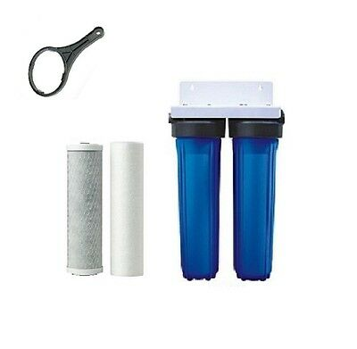 "Whole house water filter system 10"" x 2.5"" + Carbon Sediment Cartridges"