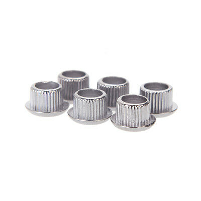 6PCS Vintage Guitar Tuner Conversion Bushing Adapter Reducer Silver Ferrule Hot