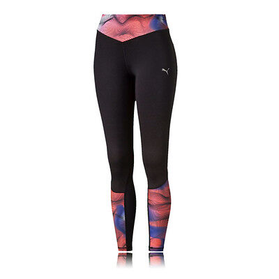Puma Graphic Womens Compression Running Sports Long Tights Bottoms Pants