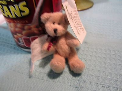 "Poseable Mini Bear by Pacific Craft Jointed 3"" Tanl"