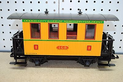 LGB 3006 Dodge City & Great Western RR Passenger Coach Car w/Box *G-Scale*