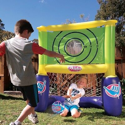 Wahu Footy Trainer Soccer Water Polo Goals Goal Post Floating Inflatable BMA922