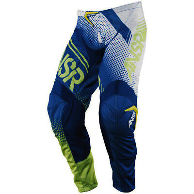 Answer 2017 Mx Gear NEW Syncron Air White Navy Acid Vented Motocross Pants