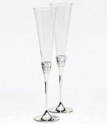 NEW Vera Wang for Wedgwood With Love Toasting Flutes Pair. Free Delivery!